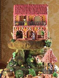San Diego's Gingerbread City with proceeds going to the Epilepsy Foundation of San Diego. This adorable Spanish-tiled rancho home complete with serenading mariachi band and lovely senorita is pure Southern California.