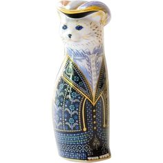 1989 Royal Crown Derby Royal Cat Pearly Queen from 18thcantique on Ruby Lane