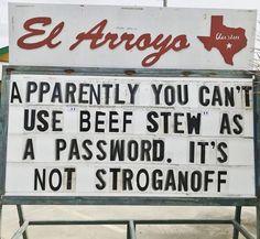 Should be Lamb Stew, cause that's not Baaaaaaaaad. Corny Jokes, Funny Puns, Dad Jokes, Haha Funny, Hilarious, Funny Stuff, Funny Sayings, Funny Tweets, Bad Puns