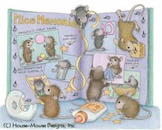 """Mudpie, Maxwell, Monica, Amanda and Muzzy"" from House-Mouse Designs featured on the The Daily Squeek® for Sept. 22, 2013. Click on the image to see it on a bunch of really ""Mice"" products."