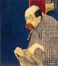 Peter Altenberg (9 maart 1859 – 8 januari 1919) - Portret door Gustav Jagerspacher 1909