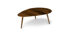 "Amoeba Wild Walnut 42.5"" Wide Coffee Table"