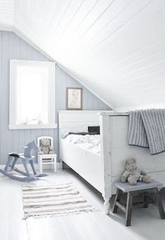 nordic kids room with natural colors. Nordic style for children. Simple living spaces for kids