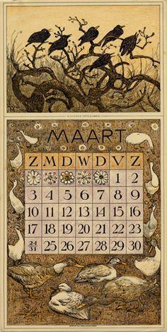 Theodoor van Hoytema, calendar 1912 March
