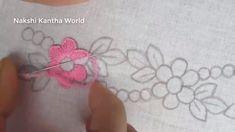 Hand Embroidery Decorative border line embroidery designModern Hand Embroidery Hand Embroidery Patterns Flowers, Hand Embroidery Videos, Embroidery Flowers Pattern, Hand Work Embroidery, Hand Embroidery Stitches, Embroidery For Beginners, Silk Ribbon Embroidery, Hand Embroidery Designs, Hand Stitching
