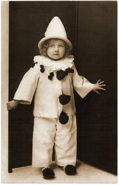 vintage photo of little clown