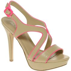 Aldo Bracker Strappy Neon Contrast Sandals ❤ liked on Polyvore
