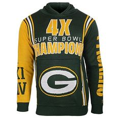 NFL Green Bay Packers Men's Super Bowl Commemorative Crew Neck Sweater, XX-Large, Green by Klew. NFL Green Bay Packers Men's Super Bowl Commemorative Crew Neck Sweater, XX-Large, Green. XX-Large.