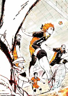 A cool sketch of Karasuno High~