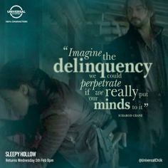 From: Universal Channel UK @UniversalChUK Mills and Crane: The finest duo on TV? You know it. #SleepyHollow returns TONIGHT at 9. And the clock is ticking...