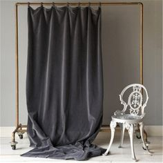 Velvet Curtain Panel...I find this fascinatingly atmospheric. Like an alternative folding screen...
