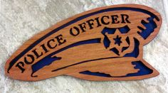 Policeman's Hat Scroll Saw Plaque