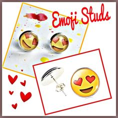 Emoji Face Stud Earrings Adorably cute Emoji Face Stud Earrings. Material content: Acrylic and alloy metals. Made in China. ShopWila Jewelry Earrings