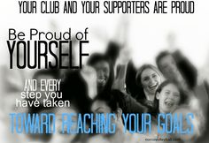 Be Proud of Yourself! norcovolleyball.com Volleyball Motivation, Volleyball Mom, Proud Of You, Goals, Sports, Life, Fictional Characters, Hs Sports, Excercise