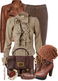 """""""Shades of Brown"""" by stephiebees on Polyvore"""