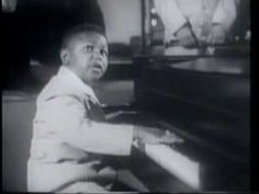 """Sugar Chile Robinson, at age 11, sings """"Teacher Teacher"""" and """"Numbers Boogie"""" and jokes around with Count Basie 1950"""