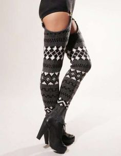 Spring and Clifton thigh high leg warmers 1 by OutsaPop Trashion. Thigh High Leg Warmers, Thigh High Socks, Thigh Highs, Knee Socks, Winter Stockings, Crochet Leg Warmers, Couture, Diy Clothes, Thighs
