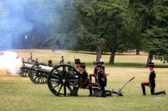 There's also a 41-gun salute from Green Park.