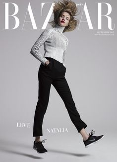 visual optimism;  natalia vodianova by jean-baptiste mondino for uk harper's bazaar september 2013
