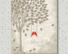 Wedding Tree Wedding Gift Guestbook by MarshmallowInkLLC on Etsy