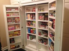 Traditional Pantry with Carpet, Built-in bookshelf, High ceiling