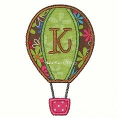 Hot Air Balloon Applique - 3 Sizes!   Transportation-other   Machine Embroidery Designs   SWAKembroidery.com Applique Time