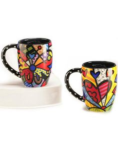 Britto Mugs - Set of 2 Assorted Available at: www.always-forever.com