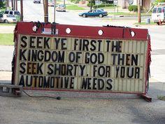 Shorty's Automotive Sign.