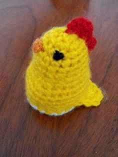 Chicken turns inside out to become an egg. Free pattern!