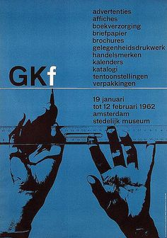 GKf Exhibition Poster Designed by Wim Crouwel, 1962