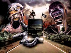 IRON MAIDEN TOUR BUS