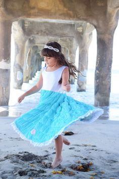 Twirl in our Original Reversible Twirly Dress. Even Cinderella's fairy godmother is jealous of this one. Girls Blue Dress, Blue Dresses, Girls Dresses, Friends Fashion, Kids Fashion, Fashion Outfits, Sparkle Outfit, Sparkle Clothes, Cinderella Fairy Godmother