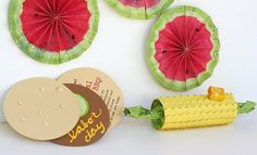 Labor Day picnic invitations, decorations, & treat containers