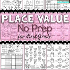 Place Value No Prep for First Grade! Place Value No Prep offers 3 levels of differentiation, fun themes, and many engaging twists, yet still no prep! Organized by Common Core standards too!