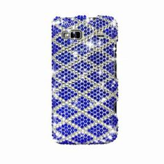 MetroPhones.co HTC G2 Vanguard Full Diamond Case Check Purple CceanBlue 391: Cell Phones & Accessories
