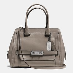 Coach Swagger Frame Satchel in Calf Leather- I love the color!