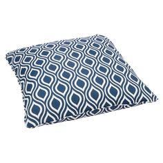 Wavy Navy Corded Outdoor/ Indoor Large 28-inch Floor Pillow   Overstock.com Shopping - Big Discounts on Outdoor Cushions & Pillows