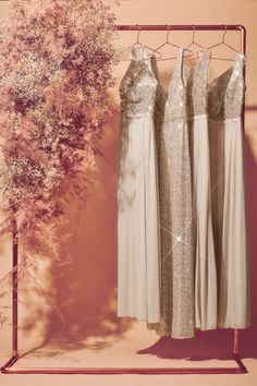 Sparkle and shine! Shop sequin bridesmaid dresses for a glamorous wedding at David's Bridal Glitter Bridesmaid Dresses, Wedding Dresses, Diy Pallet Furniture, Glamorous Wedding, Davids Bridal, Raw Vegan, On Your Wedding Day, Bridal Jewelry, Sequins