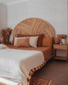 Curved Cuba Rattan Bedhead by Palm Cove Living. Get it now or find more Bedheads at Temple & Webster. Room Ideas Bedroom, Dream Bedroom, Home Decor Bedroom, Home Interior, Interior Design, Aesthetic Room Decor, My New Room, House Rooms, Home Decor Inspiration