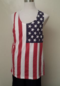 BROOKLYN Cloth Mfg Co men size M tank with US FLAG PATTERN NEW visit our ebay store at  http://stores.ebay.com/esquirestore