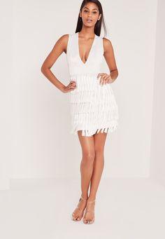 2da2230c8ad5 Dresses | Cute Dresses For Women. All White Party DressesClub DressesWhite  WomenCold ShoulderTasselsCarli ...