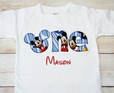 Mickey Mouse Inspired One Shirt for Boys First by RightUpYourAli1