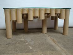 cardboard tube table