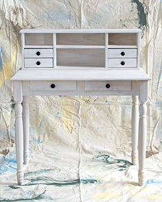 DIY pickling stain on unfinished furniture. for more color ideas see General Finishes. To find an unfinished furniture store see www.BuyUnfinishedFurniture.com