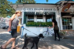 The island's north-south spine, City Island Avenue, has its share of street-level businesses, including the City Island Diner.