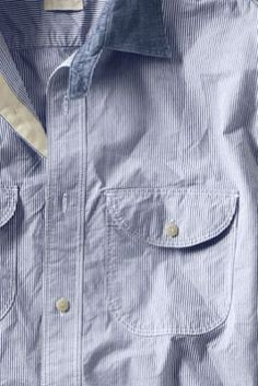 Men's Tab Collar Poplin Shirt from Lands' End Canvas
