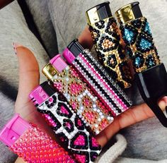 Blinged out lighters! ♡