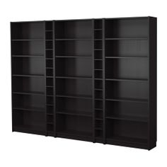 BILLY Bookcase combination IKEA Narrow shelves help you to use small wall spaces effectively by accommodating small items in a minimum of space.
