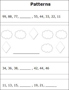complete the patterns 1 1st grade worksheets free printables and 1st grades. Black Bedroom Furniture Sets. Home Design Ideas