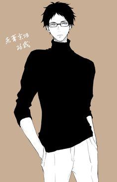 Akaashi Keiji   黒タートル眼鏡葦(26)の破壊力∞∞∞∞∞